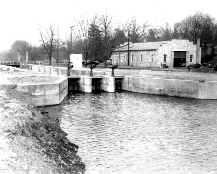 D&R Canal's Lock 8/Kingston; Upstream Sluice Gates After Rehabilitation to Water Supply