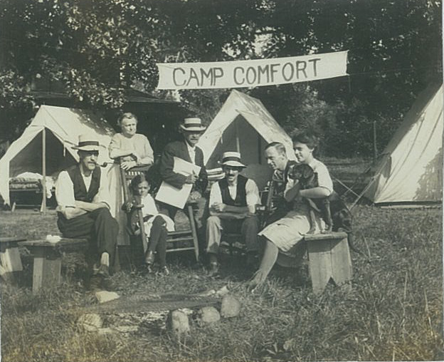 Camp Comfort; Bulls Island, c1916, Ed Irons Collection